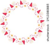 party hats  confetti  streamers ... | Shutterstock .eps vector #1913380885
