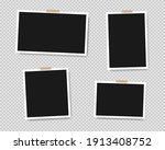 set of empty photo frames with... | Shutterstock .eps vector #1913408752