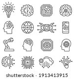 artificial intelligence icon... | Shutterstock .eps vector #1913413915