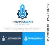 thermometer gear vector logo... | Shutterstock .eps vector #1913448748