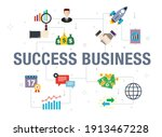 success business concept with... | Shutterstock .eps vector #1913467228