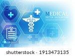 vector medical abstract... | Shutterstock .eps vector #1913473135