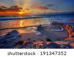 Magnificently colorful beach vacation sunrise 3