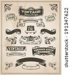 retro vintage banner and ribbon ... | Shutterstock .eps vector #191347622