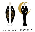 day and night symbol  standing... | Shutterstock .eps vector #1913553115