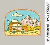camping nature adventure wild...   Shutterstock .eps vector #1913573008