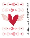 card valentine's day in boho...   Shutterstock .eps vector #1913573182