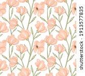 pastel rose seamless pattern.... | Shutterstock .eps vector #1913577835