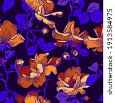 Seamless Pattern With Blooming...