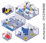 isometric 3d composition with... | Shutterstock .eps vector #1913598088