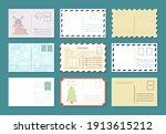 postcards retro banner set.... | Shutterstock .eps vector #1913615212