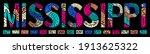 mississippi. multicolor doodle... | Shutterstock .eps vector #1913625322