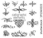 vector set of calligraphic... | Shutterstock .eps vector #191363222