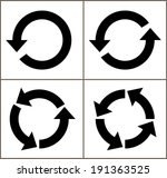 4 rotate arrow icon sign.... | Shutterstock .eps vector #191363525