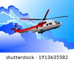 ambulance  helicopter. vector...   Shutterstock .eps vector #1913635582