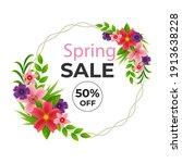 spring floral frame vector... | Shutterstock .eps vector #1913638228