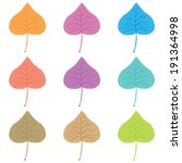 set of colorful autumn leaves | Shutterstock .eps vector #191364998