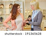 personal shopper with woman at... | Shutterstock . vector #191365628