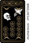 Nine Of Pentacles. Card Of...