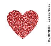 red glitter heart   love symbol | Shutterstock .eps vector #1913678182