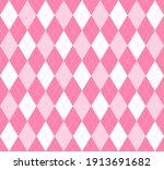 valentines day argyle plaid....   Shutterstock .eps vector #1913691682