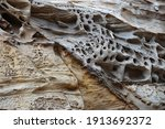 Abstract Form Of Frozen Lava In ...