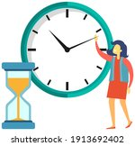 time management  time tracking...   Shutterstock .eps vector #1913692402