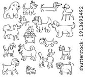 Set Of Illustrations Of Dogs....