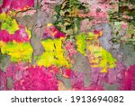 grunge wall background. old dry ... | Shutterstock . vector #1913694082
