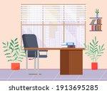modern workplace flat design....   Shutterstock .eps vector #1913695285