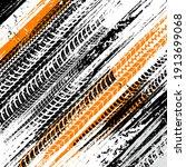 offroad grunge tyre prints ... | Shutterstock .eps vector #1913699068