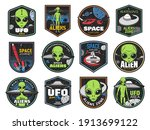 aliens  ufo area and space... | Shutterstock .eps vector #1913699122