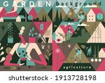 garden  agriculture. people are ... | Shutterstock .eps vector #1913728198