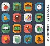 flat school icons set.vector | Shutterstock .eps vector #191373152