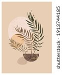 vector boho aesthetic abstract...   Shutterstock .eps vector #1913744185