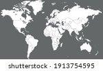 world map color vector modern.... | Shutterstock .eps vector #1913754595