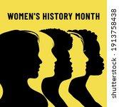 womens history month. women's... | Shutterstock .eps vector #1913758438