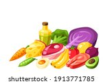 vitamin food sources... | Shutterstock .eps vector #1913771785