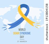 world down syndrome day web... | Shutterstock .eps vector #1913804158