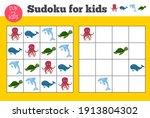 sudoku. kids and adult...   Shutterstock .eps vector #1913804302
