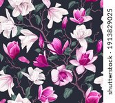 floral seamless pattern with... | Shutterstock .eps vector #1913829025