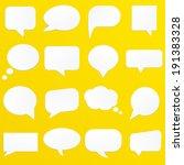 speech bubbles    Shutterstock .eps vector #191383328