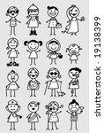 mixed black   white girls | Shutterstock .eps vector #19138399