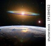 The Sombrero Galaxy High Above...