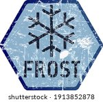 frost and heavy snowfall or... | Shutterstock .eps vector #1913852878
