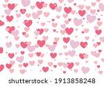 pink heart love pattern  vector ...   Shutterstock .eps vector #1913858248