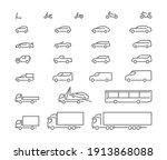 big set outline icons  urban... | Shutterstock .eps vector #1913868088