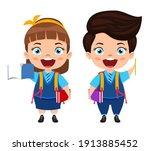happy cute beautiful smart... | Shutterstock .eps vector #1913885452