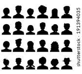 illustration of silhouette... | Shutterstock .eps vector #191394035