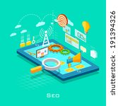 illustration of seo concept in... | Shutterstock .eps vector #191394326